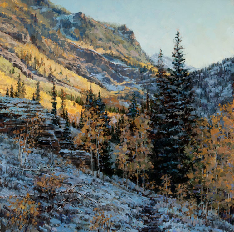 Early Autumn Snow   20 x 20 Oil