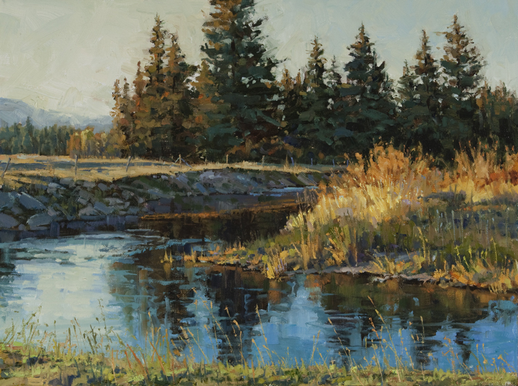 Reflections of a Montana Evening  12 x 16 Oil