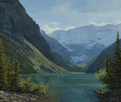Aqua Calm-Lake Louise  20 x 24 Oil