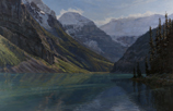 Aqua Glimmer-Lake Louise, Canadian Rockies  26 x 40 Oil