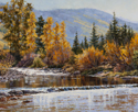 Autumn Creek Sparkle  20 x 24 Oil