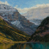 Cloud Mantle - Lake Louise  12 x 12 Oil
