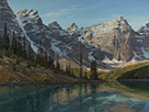 Crystal Dawn-Moraine Lake, Canadian Rockies  32 x 42.5 Oil