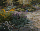 Daisies and Chives-Betty Ford Gardens, Vail  11 x 14 Oil