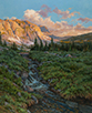 Dawn Chatter-Wind River Range  30 x 24 Oil