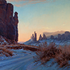 Dawn Drapes Yei Bi Chei-Monument Valley  30 x 30 Oil