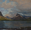 Dawn Storm-Glacier National Park 20 x 20 Oil