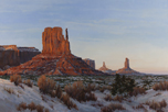 December Dusk - Monument Valley 24 x 36 Oil