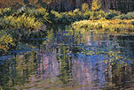 Evening Reflections Gore Creek Ponds 20 x30 Oil
