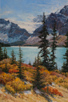 Glacier Gleam - Canadian Rockies  30 x 20 Oil