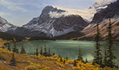 Glacier Glisten and Aqua 41 x 71 Oil