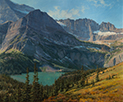 Hike to the Sky-Grinnell Glacier Trail, Glacier National Park 30 x 36 Oil