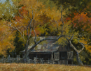 Hill Country Autumn-Sauer Beckman Farm  14 x 18 Oil