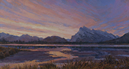 Kaleidoscope Sunrise - Vermilion Lakes, Canadian Rockies  8 x 15 Oil