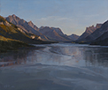 Last Boat from Goat Haunt - Waterton Natl Park  10 x 12 Oil