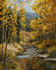 Lined in Autumn Gold-Rocky Mt. Natl. Park  10 x 8 Oil