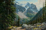 Plain of the Six Glaciers Trail-Lake Louise  20 x 30 Oil