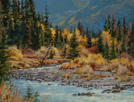 Rambling Autumn Stream 9 x 12 Oil