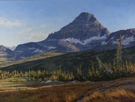 September Shadows-Reynolds Mt., Glacier Natl Park  36 x 48 Oil