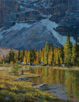 September Tamarack - Canadian Rockies  18 x 14 Oil