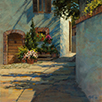 Shadow Patterns and Window Boxes  12 x 12 Oil