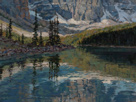Shimmer across Glass - Moraine Lake 18 x 24 Oil Salon International 2009