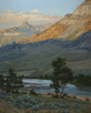 Slip into Shadow - Shoshone River  30 x 24 Oil