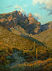 Sundown Trail to Finger Rock  30 x 22 Oil