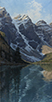 Touches of Sunrise-Moraine Lake, Banff, Canadian Rockies  48 x 24 Oil