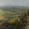 Up to Montalcino-Tuscany  30 x 30 Oil