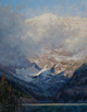 Veiled in Morning Mist - Lake Louise  20 x 16 Oil - Oil Painters of America National Exhibit 2009