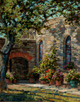 Walkway to Solitude-Mission Espada, San Antonio, TX  14 x 11 Oil