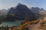 Washed in September Sun-Glacier National Park  24 x 36 Oil
